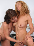 These two hot MILFs get down to some pussy eating